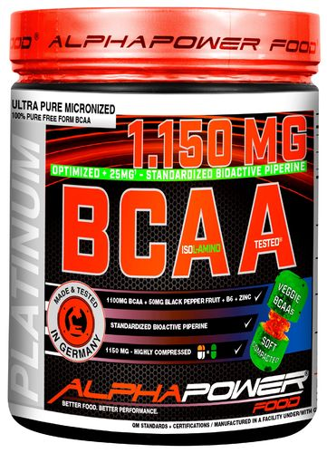 ALPHAPOWER FOOD: 100%BCAA8.000MG 2:1:1 300 capsules unflavored