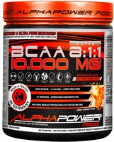 ALPHAPOWER FOOD: 100%BCAA10.000MG 8:1:1 400 g powder can juicy-orange