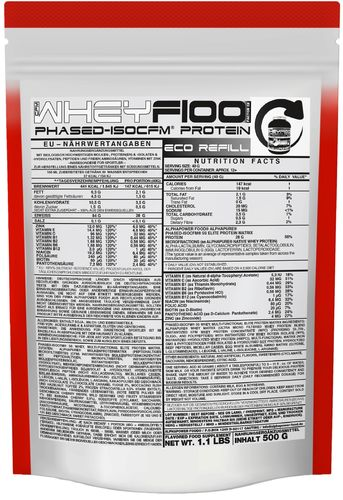 ALPHAPOWER FOOD: WHEYF100 Phased-ISOCFM Protein 500g refill pouch