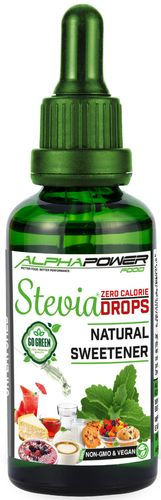 ALPHAPOWER FOOD: STEVIA LIQUID  + AROMA 50 ML
