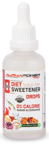 ALPHAPOWER FOOD: DIET SWEETENER DROPS, 50 ML BOTTLE