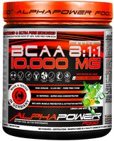 ALPHAPOWER FOOD: 100%BCAA10.000MG 8:1:1 390 g powder can LEMON-LIME-MINT